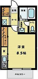 カーサ・フェリーチェ[2階]の間取り