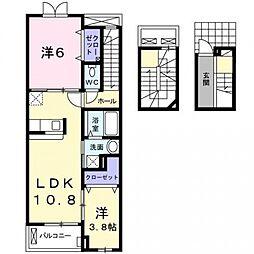 ブレスベル[3階]の間取り