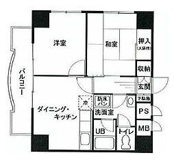 センチュリーメモリアル島津山[3階]の間取り