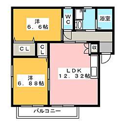ベルスイート[2階]の間取り
