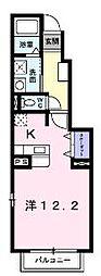 香川県丸亀市新浜町2丁目の賃貸アパートの間取り