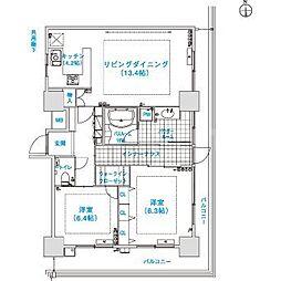 松屋タワー[24階]の間取り