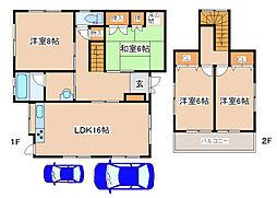 [一戸建] 兵庫県神戸市西区和井取 の賃貸【/】の間取り