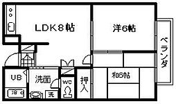 エステートピア阪口[203号室]の間取り