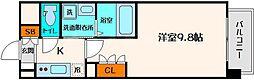 アスリート江坂Ⅱ番館[4階]の間取り