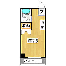 フローレンス2[3階]の間取り