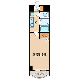 現代ハウス新栄[7階]の間取り