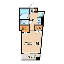 小町マンション車道[4階]の間取り