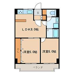 ガーデンコート新栄[9階]の間取り