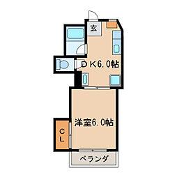 コーポグリーンハウス[3階]の間取り