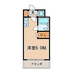 新栄アネックス[6階]の間取り