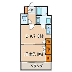 久屋グリーンビル[7階]の間取り