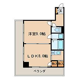 久屋グリーンビル[5階]の間取り