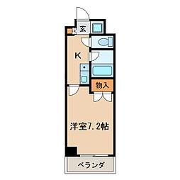 マーベラス新栄[4階]の間取り