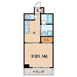 ライジングヴィラ葵[4階]の間取り