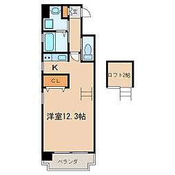 エターナル栄[6階]の間取り