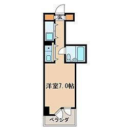 チサンマンション丸の内第6[10階]の間取り