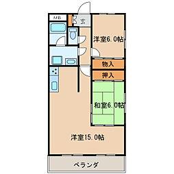 愛知県名古屋市中区葵2丁目の賃貸マンションの間取り