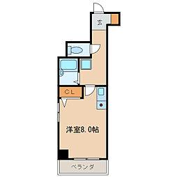 イヅミマンション[3階]の間取り