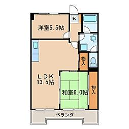 ローレル豊前[6階]の間取り