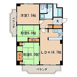 東桜マンション[5階]の間取り