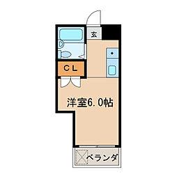 ラ・レジダンス・ド・ノーブル[6階]の間取り
