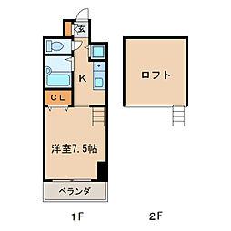 IZM36[10階]の間取り