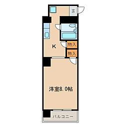 シャトー鶴舞[4階]の間取り