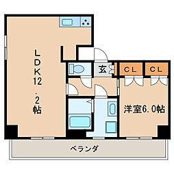 コージーコート新栄[5階]の間取り