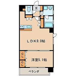 グランデュ−ル東桜[9階]の間取り