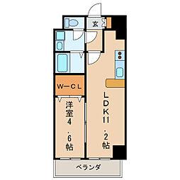 フォレシティ新栄[4階]の間取り