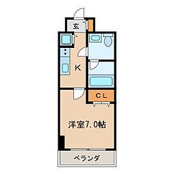 プロシード新栄[4階]の間取り