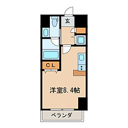 レジディア栄[9階]の間取り