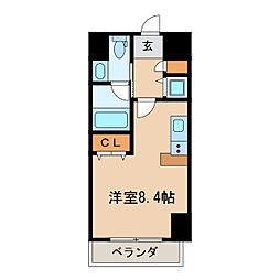 レジディア栄[2階]の間取り