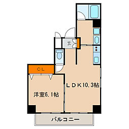 レジデンシア栄南[7階]の間取り