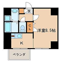 クラシタイヤー新栄[4階]の間取り