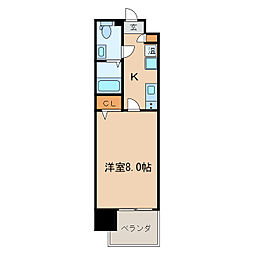 プレサンスmiu新栄[13階]の間取り