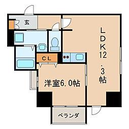 P-SQUARE Shumoku[3階]の間取り