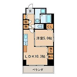 プレステージ新栄[6階]の間取り