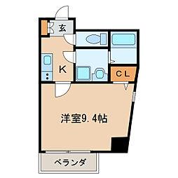 スカイコート葵[2階]の間取り