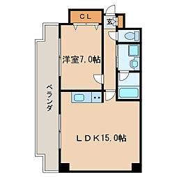 三陽ビルディング[6階]の間取り