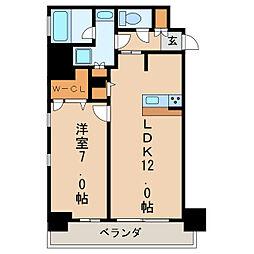 FIRST RESIDENCE SAKAE[8階]の間取り