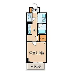 プレミアムコート新栄[7階]の間取り