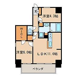 Kamiya Bldg 東桜[7階]の間取り
