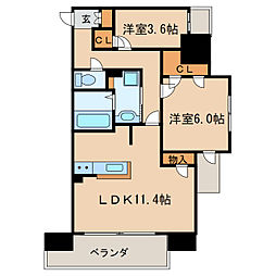 Kamiya Bldg 東桜[11階]の間取り