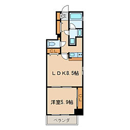 ライブコート泉[9階]の間取り