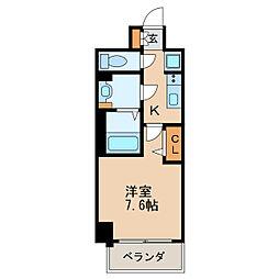 プレサンス新栄リベラ 4階1Kの間取り