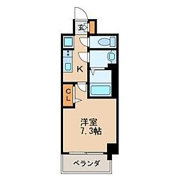 プレサンス新栄リベラ 8階1Kの間取り