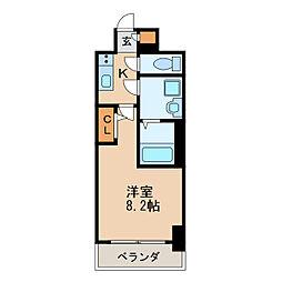 エスリード新栄プライム 6階1Kの間取り