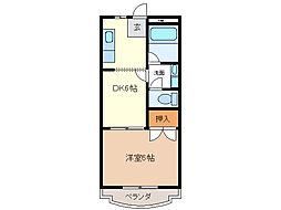愛知県日進市香久山3の賃貸マンションの間取り
